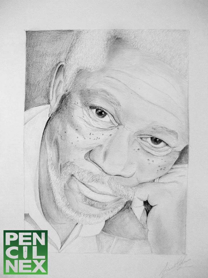 1Morgan Freeman - by Diana Nine. Logo